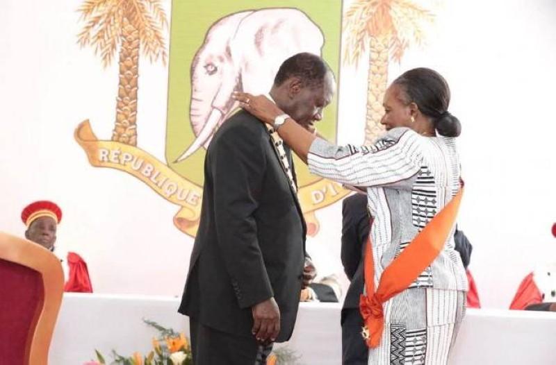 Prestation de serment d'Alassane Ouattara après sa réélection en 2015 (DR)
