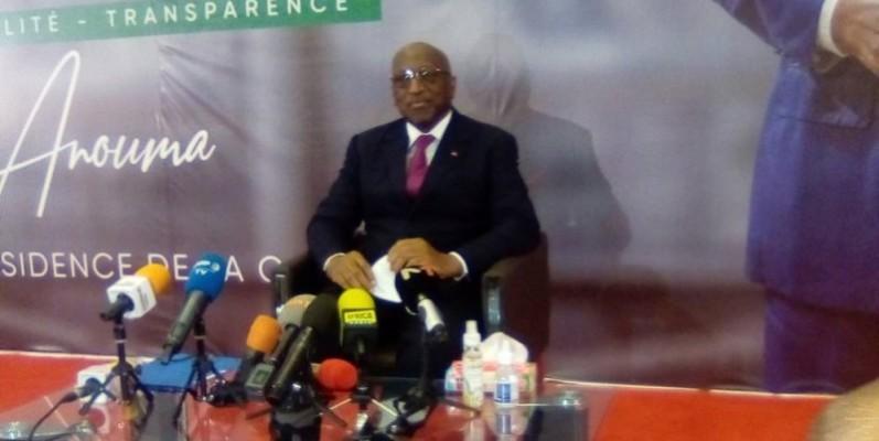 L'Ivoirien Jacques Anouma, candidat à la présidence de la Caf. (Franck YEO)