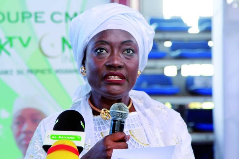 La ministre de la Cohésion sociale de la Solidarité et de la Lutte contre la pauvreté, Mariatou Koné (Sébastien Kouassi)