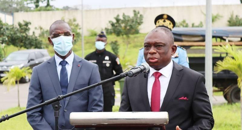 Le ministre de la  Réconciliation nationale, Kouadio Konan Bertin,  a salué l'esprit républicain de la police nationale. (DGPN)