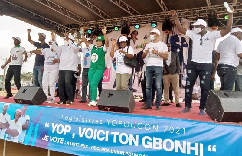 Les candidats de la coalition Eds/Pdci ont pris l'engagement de reconquérir Yopougon. (Ph : G.G)