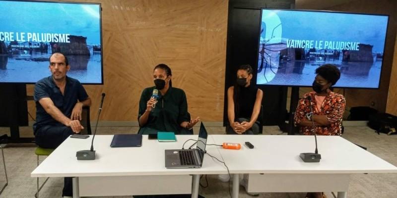 L'équipe de production s'est ouverte aux questions des journalistes à l'issue du visionnage du film. (DR)